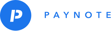 paynote logo with blue circle and white p next to the word paynote in capitals