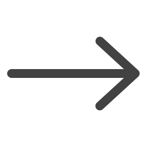gray icon of an arrow pointing right with transparent background